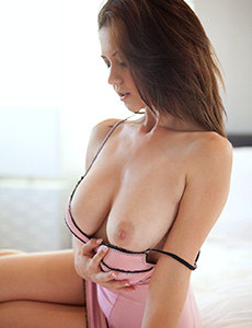 Babe with tiny tits
