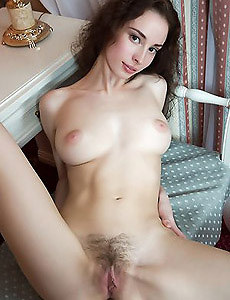 Young body and hairy pussy